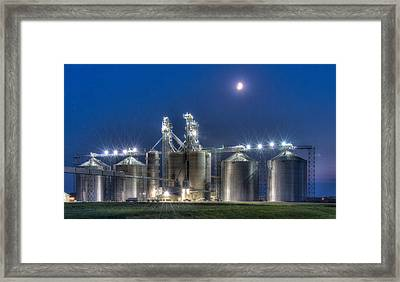 Grain Processing Plant Framed Print by Paul Freidlund