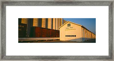 Grain Silo Railroad Station, Salina Framed Print by Panoramic Images