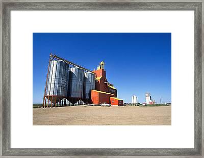 Grain Silos Saskatchewan Framed Print by Buddy Mays