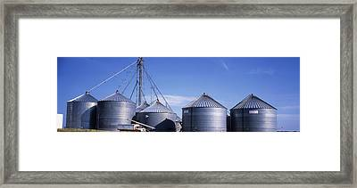 Grain Storage Bins, Nebraska, Usa Framed Print by Panoramic Images