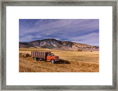 Grain Truck Framed Print