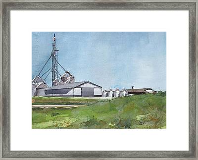 Grainergy Farms Framed Print by Spencer Meagher