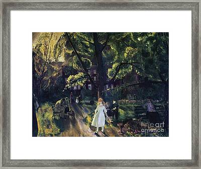 Gramercy Park Framed Print by George Wesley Bellows