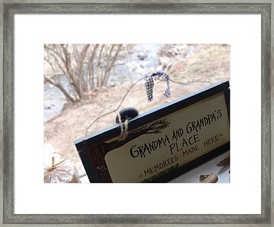 Gramma And Grampa's Place Framed Print by Korynn Neil
