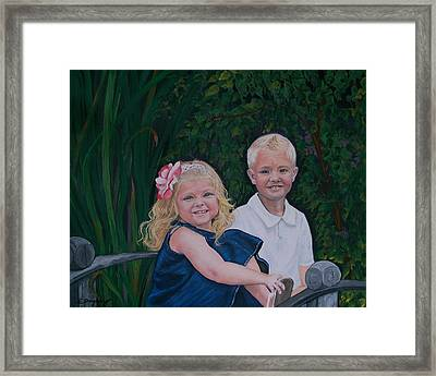 Grampa And Gramma's Joy  Framed Print
