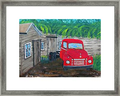 Grampa's Place Framed Print by William Jack Thomas