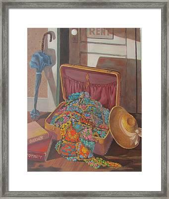 Framed Print featuring the painting Gram's Treasures by Tony Caviston