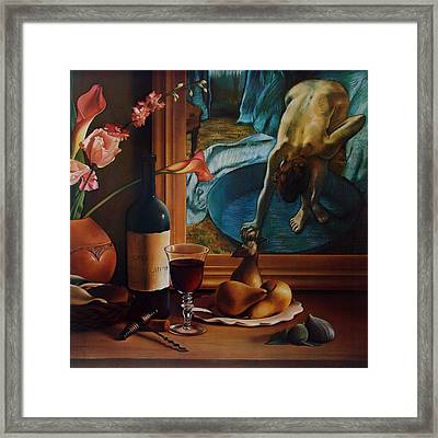 Gran Chateau With Pears Framed Print