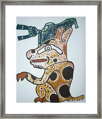 Gran Jaguar Iv Framed Print by Juan Francisco Zeledon