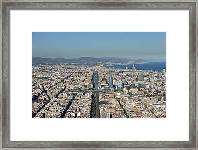 Gran Vía, Eixample, Barcelona Framed Print by Jordi Todó