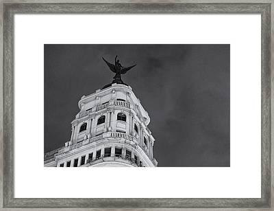 Gran Via In Madrid Framed Print by Pablo Lopez