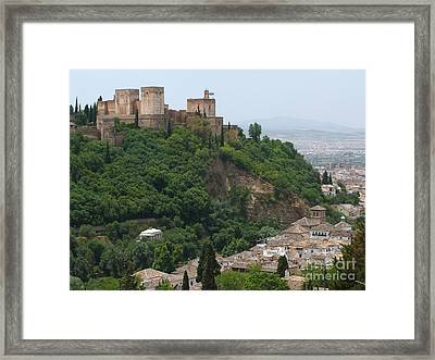 Granada - Alhambra Towers Framed Print by Phil Banks