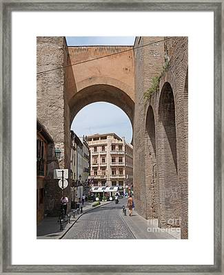 Granada Old City Gateway Framed Print by Phil Banks