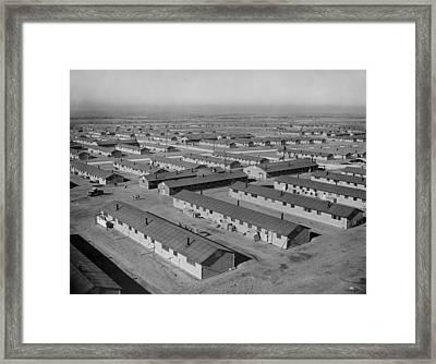 Granada War Relocation Center Framed Print