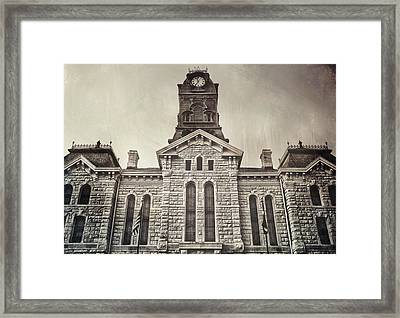 Granbury Courthouse Framed Print by Pair of Spades