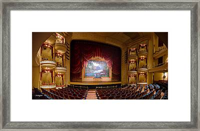 Grand 1894 Opera House - Orchestra Seating Framed Print