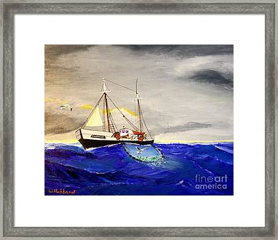 Superior On The Grands Banks Of Newfoundland Framed Print by Bill Hubbard