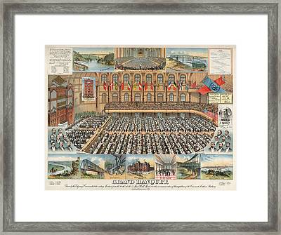 Grand Banquet, Given By The Citizens Of Cincinnati Framed Print by Litz Collection