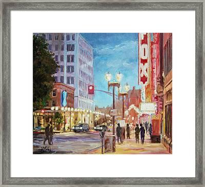 Grand Boulevard St.louis Framed Print