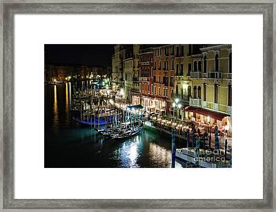 Grand Canal At Night. Venice Framed Print by Rostislav Bychkov
