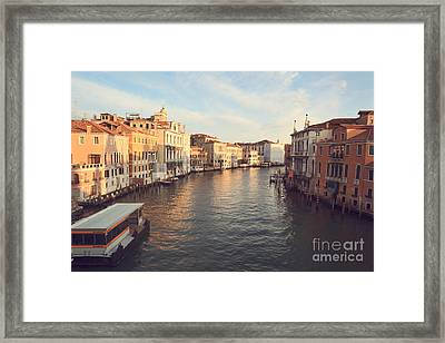 Grand Canal From Accademia Bridge In Venice Framed Print by Matteo Colombo