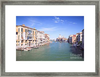 Grand Canal From Accademia Bridge Framed Print by Matteo Colombo