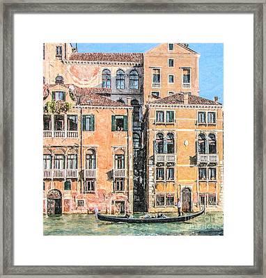 Grand Canal Gondola Framed Print