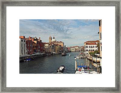 Framed Print featuring the photograph Grand Canal In Venice by Cendrine Marrouat