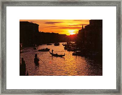 Grand Canal In Venice Framed Print by Yue Wang
