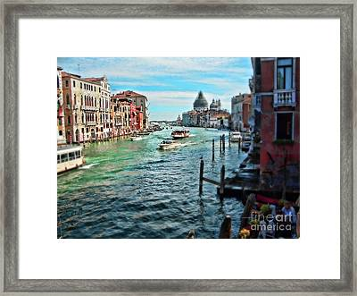 Grand Canal Framed Print by Sylvia Cook