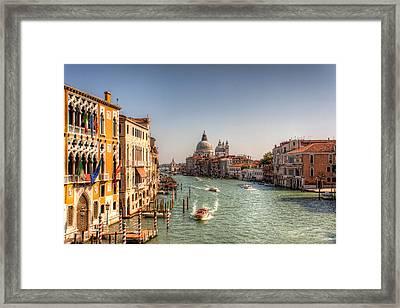Grand Canal Venice Framed Print by Nico Trinkhaus