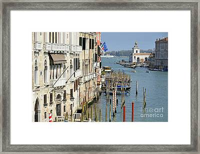 Grand Canal View From Academia Bridge Framed Print