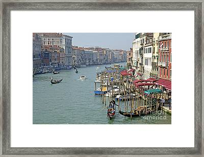 Grand Canal Viewed From Rialto Bridge Framed Print