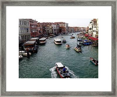 Grand Canal's Morning Rush Framed Print