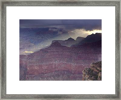 Grand Canyon - Clearing Storm Framed Print