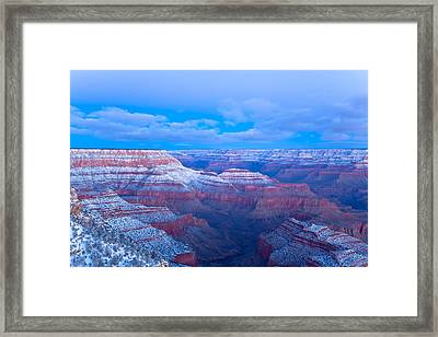 Framed Print featuring the photograph Grand Canyon At Dawn by Jonathan Nguyen