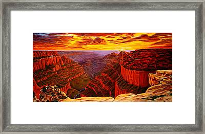 Grand Canyon At Sunset Framed Print