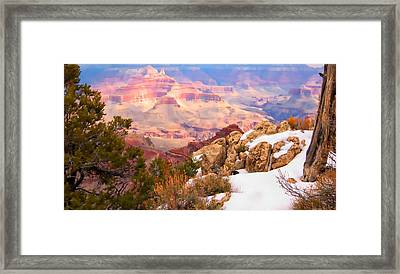 Framed Print featuring the photograph Grand Canyon by Bob Pardue