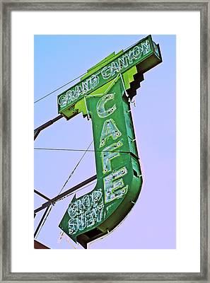 Grand Canyon Cafe Framed Print