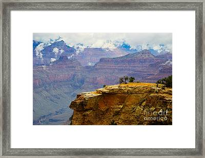 Grand Canyon Clearing Storm Framed Print