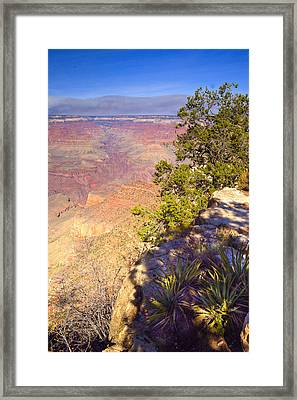 Grand Canyon Cliff Framed Print