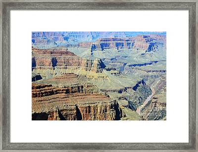 Grand Canyon Cliffs And Colorado River Gorge Framed Print