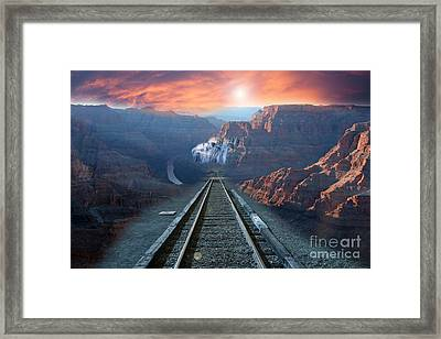 Framed Print featuring the photograph Grand Canyon Collage by Gunter Nezhoda