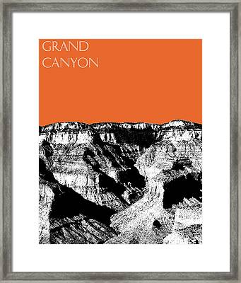 Grand Canyon - Coral Framed Print by DB Artist