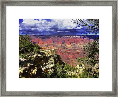 Framed Print featuring the photograph Grand Canyon by Craig T Burgwardt