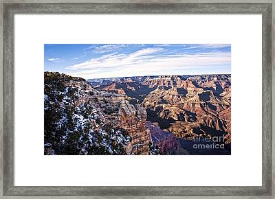 Grand Canyon December Glory Framed Print by Lee Craig
