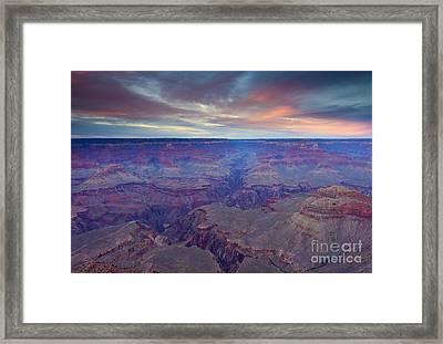 Grand Canyon Dusk Framed Print by Mike  Dawson