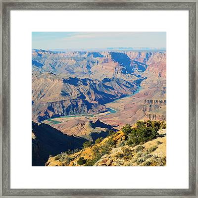 Grand Canyon Eastern Sunset View Square Framed Print by Shawn O'Brien