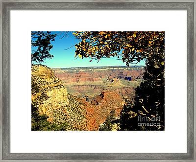 Grand Canyon Framed By Nature Framed Print by John Potts