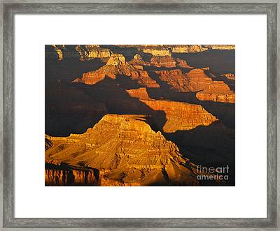 Grand Canyon Glow Framed Print by Alex Cassels